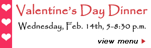 Special Valentine's Day Dinner at Monet's Table Restaurant